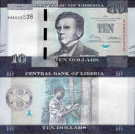 Liberia 2016 - 10 Dollars - Pick 32 UNC - Liberia