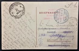 CP Prisonnier De Guerre Interné Aux Pays-Bas Camp De ZEIST > Brigadier Facteur Armée Belge Oblit PMB 4 Et 5 - Storia Postale