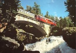 BERNINABAHN Am Wasserfall Morteratsch - GR Grisons