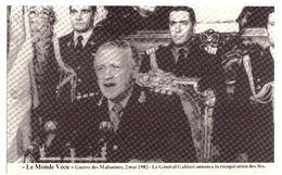 Le Monde Vécu Carte Numérotée 296 Guerre Des Malouines 2 Mai 1982 Le Général Galtieri Annonce La Récupération Des Iles - Histoire