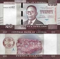 Liberia 2016 - 20 Dollars - Pick 33 UNC - Liberia