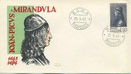 ITALIA - FDC SILIGATO 1963 - PICO DELLA MIRANDOLA - FDC