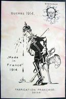 GRANDE GUERRE   CARICATURE PROPAGANDE  GUERRE 1914/1918  CARTE  ANTI ALLEMANDE BISMARCK - Guerre 1914-18