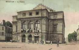 BEAUVAIS  Le Theatre Colorisée Drapeaux RV - Beauvais