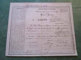 CAISSE DES DEPOTS ET CONSIGNATIONS - Rente Viagère Pour La Vieillesse - Extrait D'Inscription N°1,468,902 - Banque & Assurance