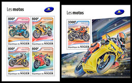 NIGER 2018 - Motorcycles, M/S + S/S. Official Issue - Motorräder