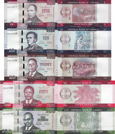 Liberia 2016 Set 5 Pcs 5+10+20+50+100 Dollars - Pick 31-35 UNC - Liberia