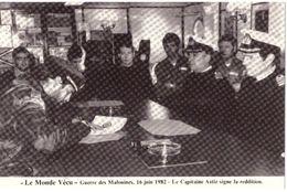 Le Monde Vécu Carte Numérotée 292 Guerre Des Malouines 16 Juin 1982 Le Capitaine Astiz Signe La Rédition - Histoire