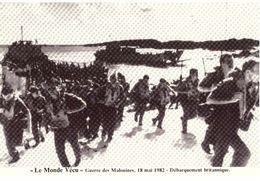 Le Monde Vécu Carte Numérotée 322 Guerre Des Malouines 18 Mai 1982 Débarquement Britannique - Histoire