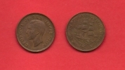 SOUTH AFRICA, 1942,  Circulated Coin, 1/2 Penny, George VI, Km 24, C1397 - South Africa