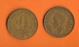SOUTH AFRICA 1948  1 Penny George VI KM34.1 - Zuid-Afrika