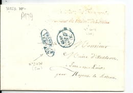 Lettre En Franchise De Paris / Ministère Des Finances , Directeur De L'Administration Des Postes + Cachet Franchise,1838 - Postmark Collection (Covers)
