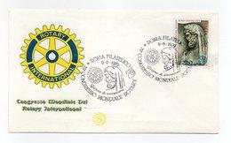 Italia - 1979 - Busta FDC - Congresso Mondiale Del Rotary International - Con Doppio Annullo Roma - (FDC13256) - Rotary, Lions Club