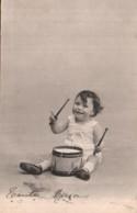 UN JEUNE ENFANT ET UN TAMBOUR CARTE PRECURSEUR CIRCULEE 1905 - Jeux Et Jouets