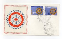 Italia - 1970 - Busta FDC - 65° Anniversario Di Fondazione Del Rotary International - Con Doppio Annullo - (FDC13257) - Rotary, Lions Club