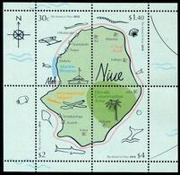 NIUE - 2018 - Carte De L'île De Niue - BF Neufs // Mnh - Niue