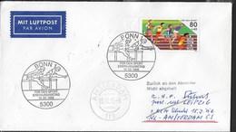 GERMANY - ANNULLO SPECIALE  BONN 1 FUR DE JUGEND 20.04.1986 SU BUSTA PER AMSTERDAM - [7] Repubblica Federale