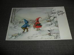 Lutin  Kabouter  Traîneau  Slede  Slee  Luge - Cartes Postales