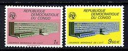 Rep Du Congo - ** N° 725/726 - U.I.T - Mint/hinged