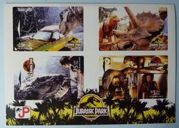 NEW ZEALAND - GPT Set Of 4 - Jurassic Park - NZ-A-21/24 - MINT In Folder - - New Zealand