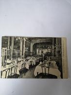 Bruxelles // Interieur Hotel De L'Esperance (Salle Restaurant) Adreszijde Fraaie Litho Afbeelding Hotel 19?? - Cafés, Hotels, Restaurants