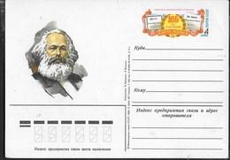 KARL MARK - INTERO POSTALE U.R.S.S. - 1982 - Karl Marx