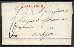 1806 - DEPT. CONQUIS ( 111 TARO ) - PLAISANCE Pour LYON  - 34mm - Postmark Collection (Covers)