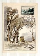 CM - JOURNÉE DU TIMBRE 1952 - Maximum Cards