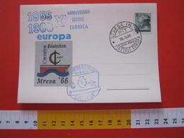 A.02 ITALIA ANNULLO - 1966 STRESA NOVARA VERBANIA PIAZZALE EUROPA UNIONE EUROPEA CEPT TIMBRO CACHET - Europa-CEPT