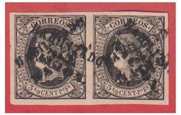 PHILIPPINES -- COLONIE ESPAGNOLE- 1869/74 -- N°15A EN PAIRE( ) --  SURCHARGE DOUBLE OBLIQUE -- - Philippines