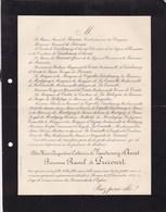 PROVINS Alix De VAUDRYMEY D'AVOUT Baronne Raoul De PRECOURT 24 Ans 1901 Lettre Mortuaire De Couët De La TOURETTE - Obituary Notices