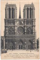 POSTAL     PARIS  -FRANCIA  - CATHÉDRALE NOTRE-DAME - Notre Dame De Paris