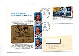 Lettre Fdc 1969 Homme Sur Lune Apollo 11 - Lettres & Documents