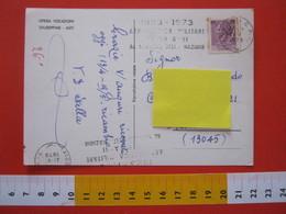 A.02 ITALIA ANNULLO - 1973 ASTI AERONAUTICA MILITARE 50 ANNI CARD OPERE VOCAZIONI GIUSEPPINE - Trasporti