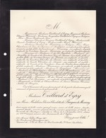 PARIS Marie De BURGUES De MISSIESSY épouse TEILLARD D'EYRY 69 Ans 1935 Famille HENRIOT Lettre Mortuaire - Obituary Notices