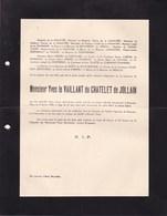 BEAUVAIS Yves Le VAILLANT Du CHATELET De JOLLAIN 21 Ans 1935 Lettre Mortuaire 2 Volets Complets De PRELLE De La NIEPPE - Obituary Notices