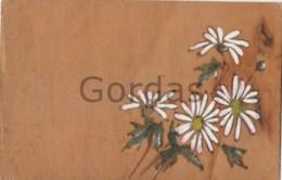 Wood Postcard - Flowers - Cartes Postales