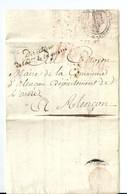 Lettre En Franchise De Paris/Directeur De L'Administration De La Guerre,an12/1793 (Dernière Annonce De Lettres De Paris) - Marcophilie (Lettres)