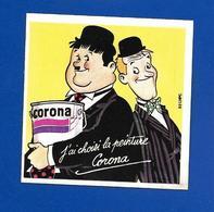 A.C  LAUREL Et HARDY Pour CORONA - Autocollants