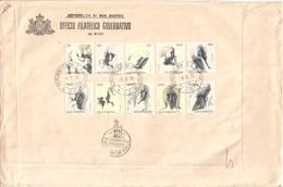 1976 SAN MARINO - FDC AASFN Le Virtù Civili In Tariffa Raccomandata. - FDC