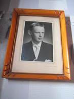 Tableau Ancienne Photos Richard DE HONINCK 1954 MERKSEM Dimension 20,5 X 26,5 Cm - Autres Collections