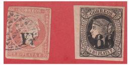 ANTILLES ESPAGNOLES -- CUBA- 1869/74 -- N°*11 & *17-- TIMBRES AVEC PETITS DEFAUTS --LE *17 AVEC UN CLAIR -- - Philippinen