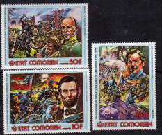 Comores N°167 / 69 X Bicentenaire De L'indépendance Des Etats-Unis Les 3 Valeurs Trace De Charnière Sinon TB - Comores (1975-...)