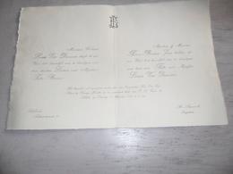 Document ( 478 ) Faire - Part Huwelijk Van Damme / Borms - Lebbeke  St Amands  1937 - Mariage