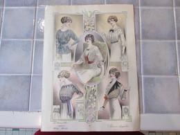 5 Gravure De Mode Ancienne 37 X 27 Cm   La Femme Chic - Estampes & Gravures