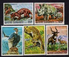Comores N°170 / 74 XX Animaux En Voie De Disparition (I) Les 5 Valeurs  Sans Charnière TB - Comoros