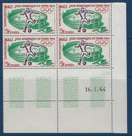 """Mali Coins Datés YT 63 """" JO Tokyo """" Neuf** Du 16.3.64 - Mali (1959-...)"""