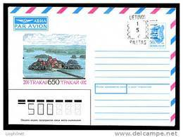 LITUANIE 1992,  ENTIER POSTAL TRAKAI URSS SURCHARGE 150 ,  1 Enveloppe, Neuve / Mint.  R430 - Lituanie