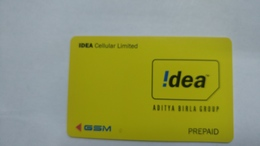 India-idea G.s.m. Prepiad Card-(32c)-()-()-(jaipur)-g.s.m Card Used+1 Card Prepiad Free - India