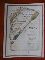 MENU INAUGURATION VOIE FERRÉE BRICKAVILLE A FANOVANA 1 NOVEMBRE 1904 MADAGASCAR - Menus